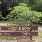 photo of Ash Wednesday Memorial Park signage