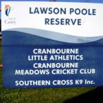 photo of Lawson Poole Reserve signage