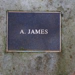 photo of plaque for A James
