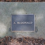 photo of plaque for A McDonald