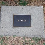photo of plaque for B Wade