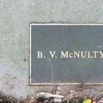 photo of plaque for BV McNulty