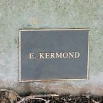 photo of plaque for E Kermond