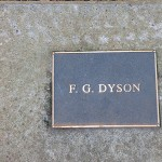 photo of plaque for FG Dyson