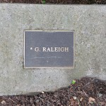 photo of plaque for G Raleigh
