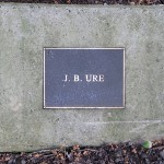 photo of plaque for JB Ure
