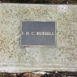 photo of plaque for JHC Russell