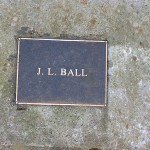 photo of plaque for JL Ball