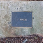 photo of plaque for L Wade