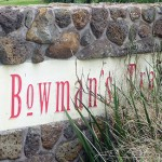 photo of Bowman's Track Estate signage