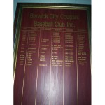 image of Berwick Cougars Honour Board